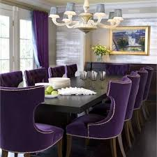 silver dining room chairs purple perfection the royal treatment is in for guests