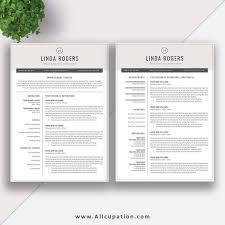 Modern Cv Word Professional Resume Template Word Cv Template Free Cover Letter