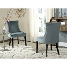 safavieh en vogue dining lester blue dining chairs set of 2