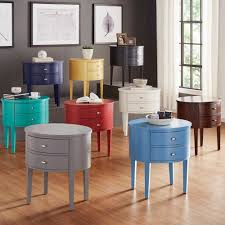 Aldine 2-drawer Oval Wood Accent Table by Inspire Q (Twilight Blue)