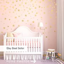 gold stars wall decals set l and stick baby nursery