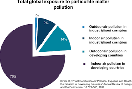 Pie Chart Showing Total Global Exposure To Particulate Open I