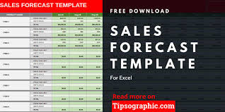 Excel Crm Templates Sales Forecast Template For Excel Free Download Tipsographic