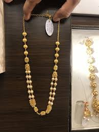 Crystal Beads Necklace Designs In Gold The Classic Gold And Pearl Long Necklace Jewelry Gold