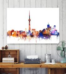 Small Picture Toronto Toronto Canada Wall art Toronto colorful poster Home