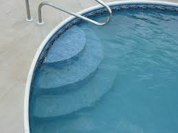 image of diy above ground pool stairs