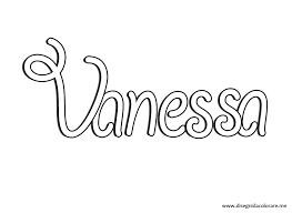 Nomi Da Stampare Vanessa Disegni Da Colorare