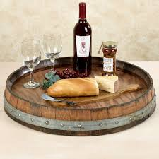 reversible reclaimed wine barrel. Reclaimed Wine Barrel Large Lazy Susan \u2014 Love This But Not The Price! Reversible