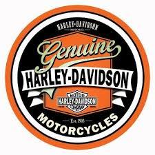 "Harley Davidson Vintage Style Decal, Sticker 4"" <b>Diameter 3M Free</b> ..."