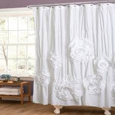 white ruffle shower curtain. White Ruffle Shower Curtain New Pottery Barn Inspired Shab Chic Regarding Curtains (Image