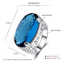 Light Blue Gemstone 2019 New Silver Plated Jewelry For Light Blue Gemstone Rings From European And American Parties From Kennyxhd2 20 11 Dhgate Com