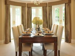 Formal Dining Room Curtain Ideas Floating Black Varnished Pine - Dining room curtain designs