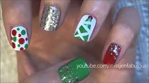 Three Cute & Easy Christmas Tree Nail Tutorials - YouTube