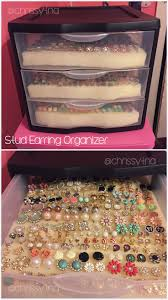 Diy Storage Container Ideas Best 25 Stud Earring Storage Ideas On Pinterest Stud Earring