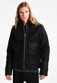 weekday weekday mountain faux leather jacket black cm88111
