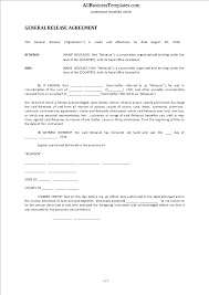 General Release Form Template Free General Release Form Templates At Allbusinesstemplates 1