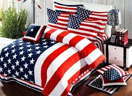 american flag bedding set striped duvet cover bed sheets bedspreads king size queen double cotton bedsheet