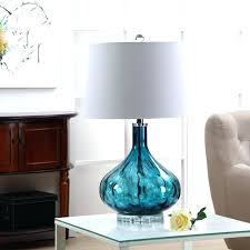 blue glass lamp base full image for turquoise glass table lamp turquoise le glass table lamp