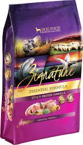 Zignature Feeding Chart Zssential Formula Zignature Food For Dogs