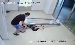 woman is smashed to the floor by a glass door at a mall in singapore daily mail