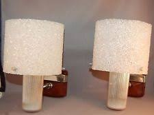 mid century modern wall sconce. SHIMMERING French Mid-Century Modern Granulated Lucite Wall Sconces! WOW! Mid Century Sconce .