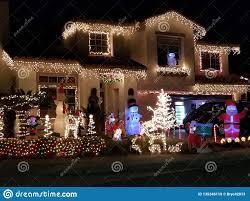Rancho Cucamonga Festival Of Lights House Decorated With Christmas Lights In Rancho Cucamonga