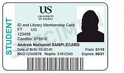 Identity Card Format For Student Id Cards Print Unit Sussex Estates And Facilities
