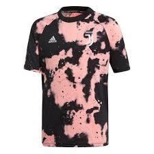 Adidas Youth Juventus Pre Match Jersey 19 20 Pink Black