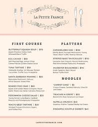 french menu template customize 265 french menu templates online canva