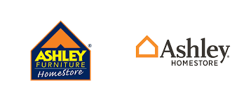 ashley homestore logo before after