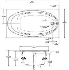 bathtub measurements standard bathtub dimensions pmc