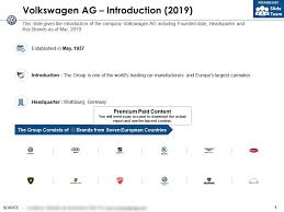 Volkswagen Ag Introduction 2019 Powerpoint Templates