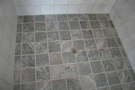 combining 6x6 and straight pattern 6 inch ceramic shower floor