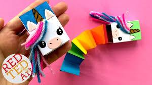 secret unicorn notebook diy matchbox unicorn diy cutest unicorn diy ever red ted art