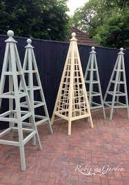 bespoke wooden garden obelisks robinson
