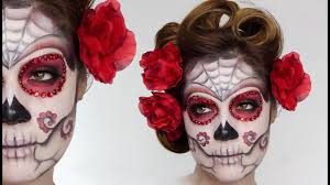 easy sugar skull day of the dead makeup tutorial for shonagh scott showme makeup
