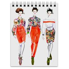 <b>Блокнот Red floral</b> collection #474958 от katerinaonuchina