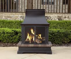 sunjoy amherst 35 in wood burning outdoor fireplace awesome outside wood burning fireplace garden treasures brown