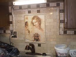 Tile Murals For Kitchen Handmade Ceramic Or Marble Kitchen Tile Mural By Flekman Art