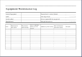 Free Vehicle Maintenance Log Template Repair Form Auto