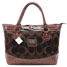 Coach Madison In Signature Medium Coffee Totes APR