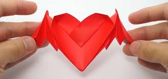 how to fold origami bat winged hearts for valentine s day origami wonderhowto