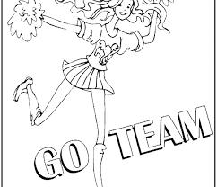 Cheerleader Coloring Pages Cheerleaders Coloring Pages Cheerleader