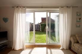 white popular sliding glass door curtain ideas simple
