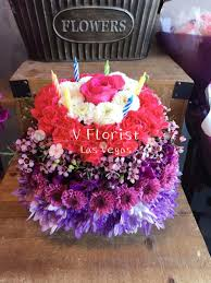 Birthday Wishes Flower Cake Pastel By V Florist