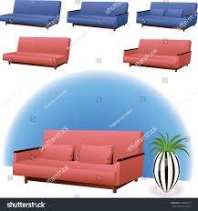 sofa clipart. sofa clipart interior design in pink or blue colors