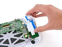 nintendo wii u teardown ifixit image 1 2 the button casing out of the way