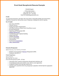 23 Sample Resume For Medical Receptionist Resume Examples For