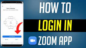 How To Login In Zoom App - YouTube
