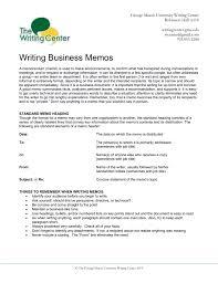 Memos Business Writing Business Memos